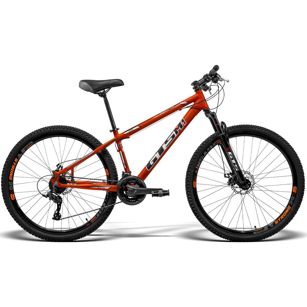 Bicicleta GTS Aro 29 Freio a Disco Câmbio Traseiro MX 21 Marchas e Amortecedor  GTS M1 Ride