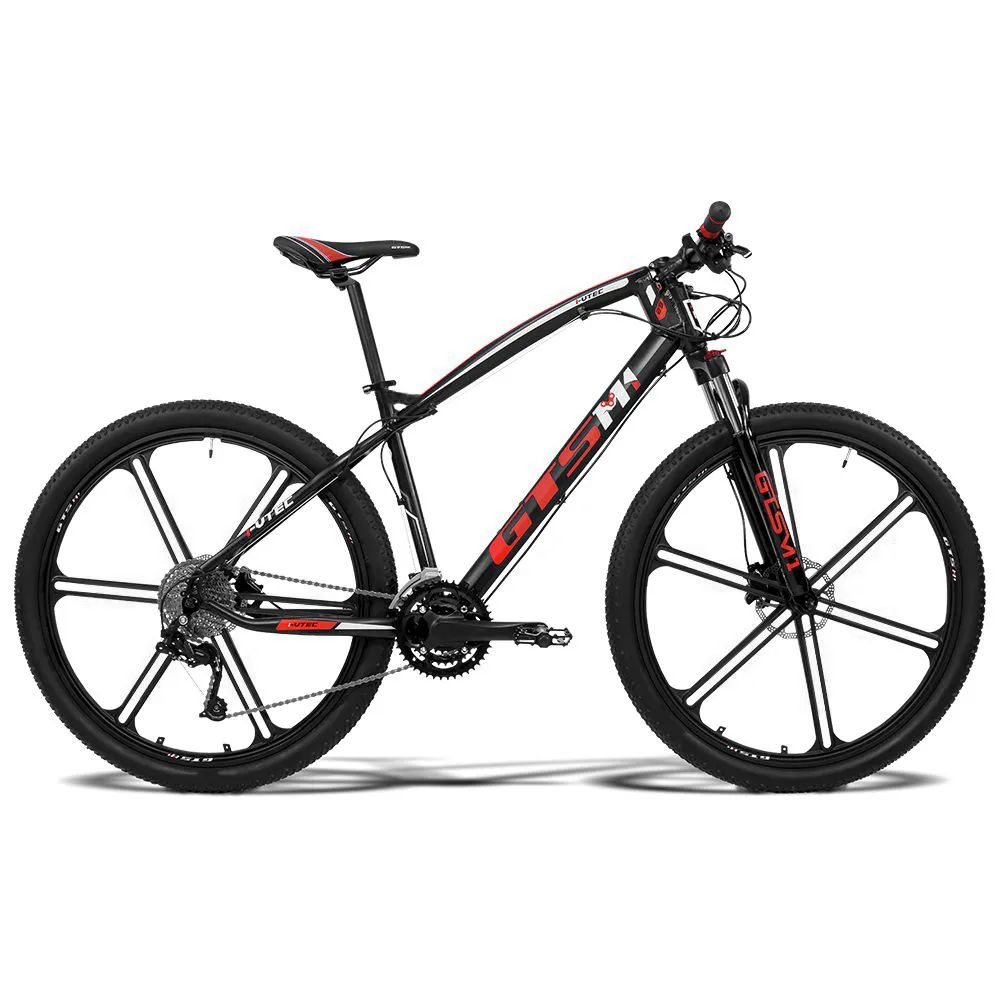 Bicicleta GTS Aro 29 Freio a Disco Hidráulico Câmbio 27 Marchas e Amortecedor com Câmara Anti Furo e Rodas de Magnésio | GTS M1 I-Vtec Absolute Magnésio Navigate