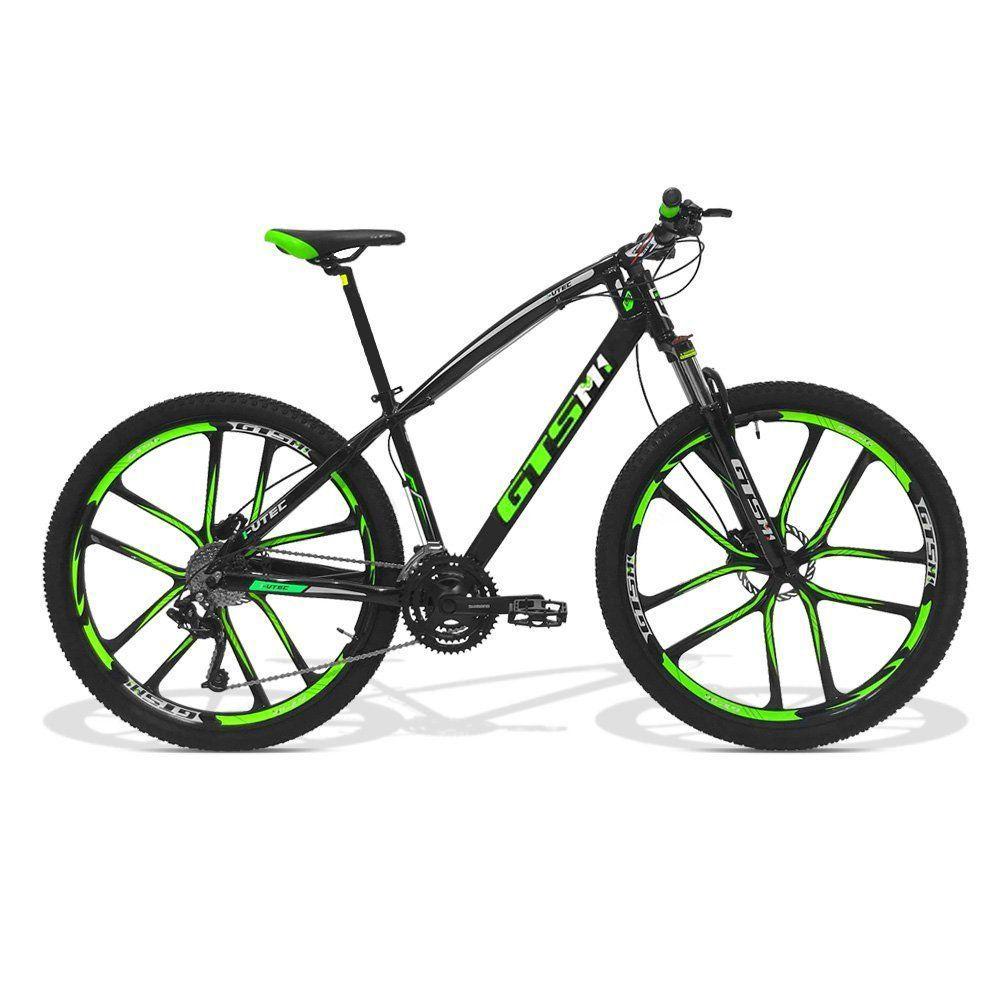 Bicicleta GTS Aro 29 Freio a Disco Hidráulico Câmbio 27 Marchas e Amortecedor com Câmara Anti Furo e Rodas de Magnésio | GTS M1 I-Vtec Absolute Magnésio