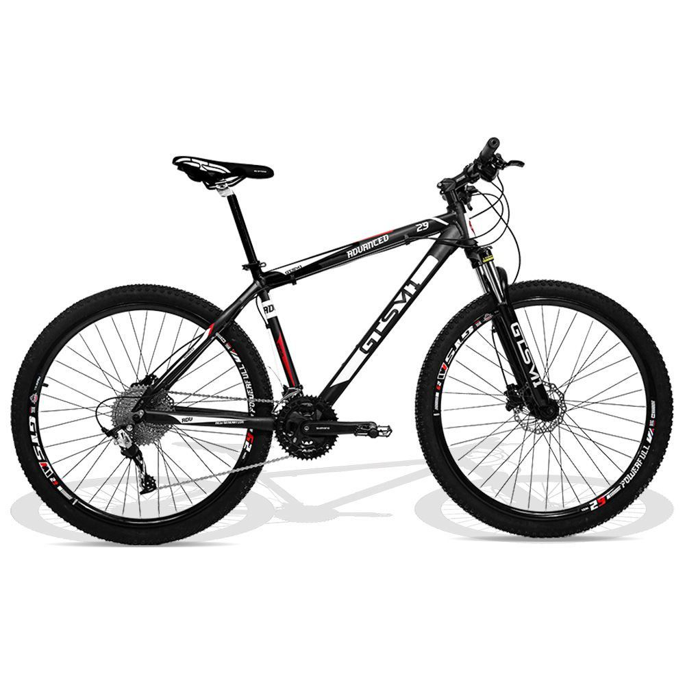 Bicicleta GTS M1 aro 29 Freio Hidráulico 30 Marchas Tsi 10 e Amortecedor | Advanced New