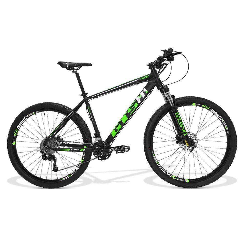 Bicicleta GTS Aro 29  Freio a Disco Hidráulico Câmbio GTS M1 RX10 30 Marchas e Amortecedor | GTS M1 Dynamic RX10