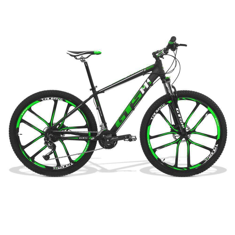 Bicicleta GTS Aro 29 Freio a Disco Hidráulico Câmbio Shimano Alívio 27 Marchas + Amortecedor e Rodas de Magnésio | GTS M1 Dynamic Magnésio Alívio