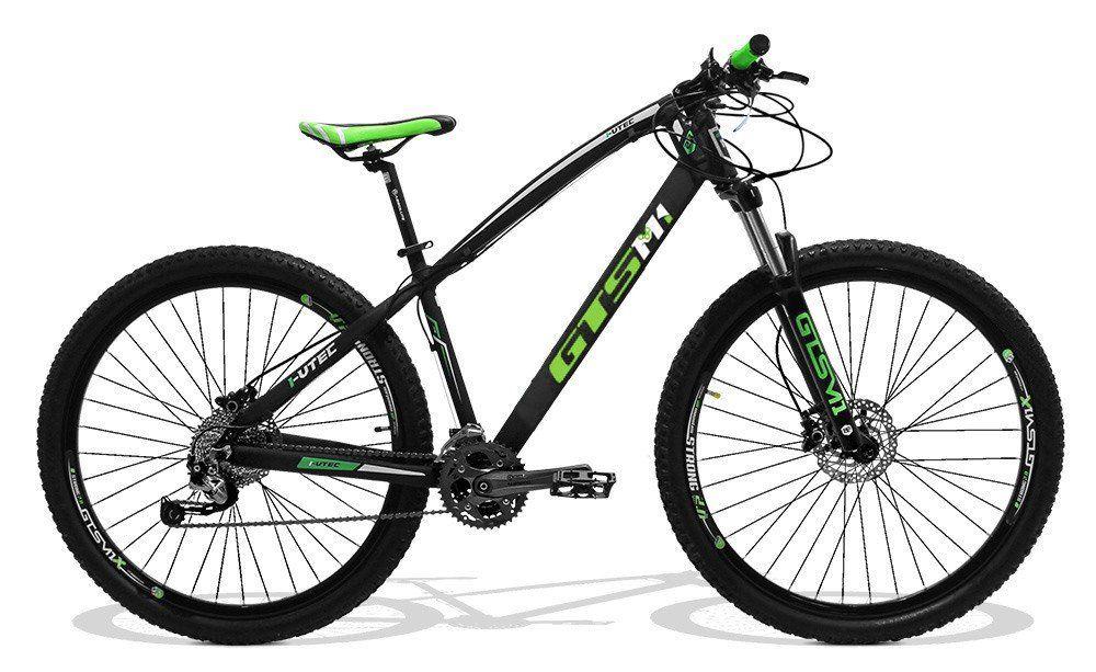 Bicicleta GTS Aro 29 Freio a Disco Hidráulico Câmbio Shimano Alivio 27 Marchas e Amortecedor com Trava no Guidão | GTS M1 I-Vtec
