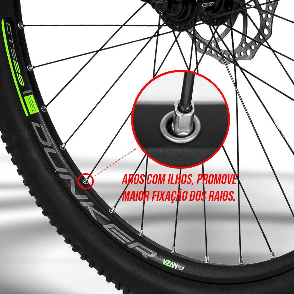 BICICLETA GTS ARO 29 FREIO A DISCO HIDRÁULICO CÂMBIO SHIMANO ALIVIO 27 MARCHAS E AMORTECEDOR | GTS M1 NEW EXPERT 2.0