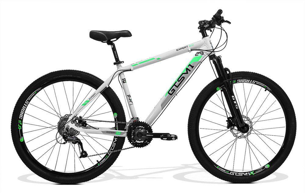 Bicicleta GTS Aro 29 Freio a Disco Hidráulico Câmbio Shimano Altus 24 Marchas e Amortecedor | GTS M1 New Expert 2.0