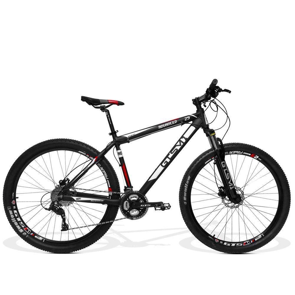 Bicicleta GTS Aro 29 Freio Hidráulico Câmbio GTS-TSi 24 Marchas e Amortecedor | GTS M1 Advanced New Freio Hidráulico