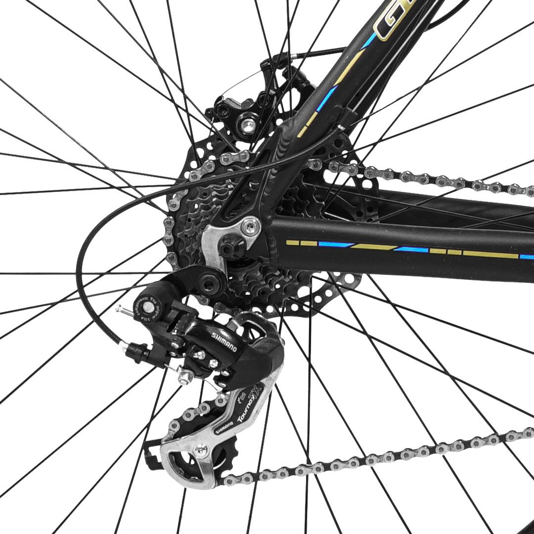 Bicicleta GTS Aro 29 Obstaculo 1.0 Freio a Disco Câmbio Traseiro Shimano 24 Marchas e Amortecedor + Velocímetro e Squeeze com Suporte