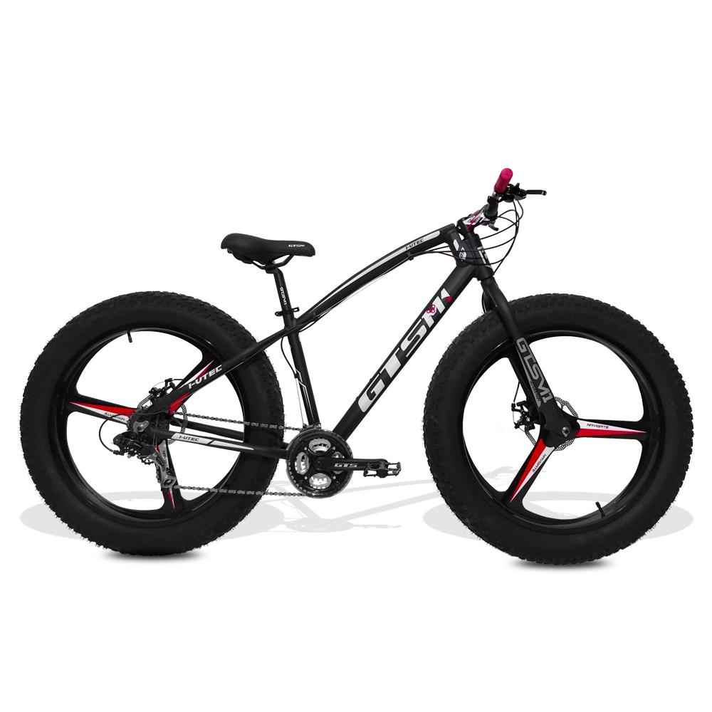 Bicicleta GTS  Fat Aro 26 com Freio a Disco 24 Marchas Câmbio Shimano  | GTS M1 I-Vtec FAT Magnésio