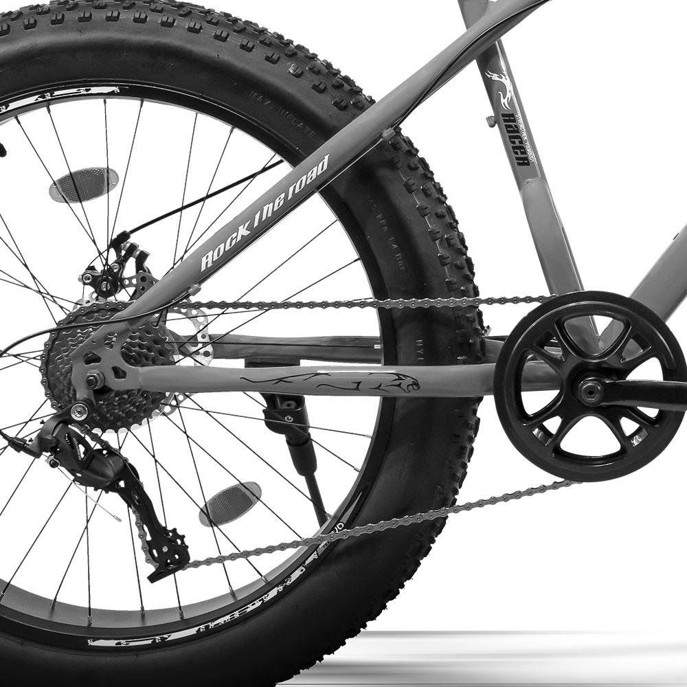Bicicleta GTS  Fat Aro 26 com Freio a Disco 9 Marchas Câmbio MicroNew   GTS M1 RACER FAT