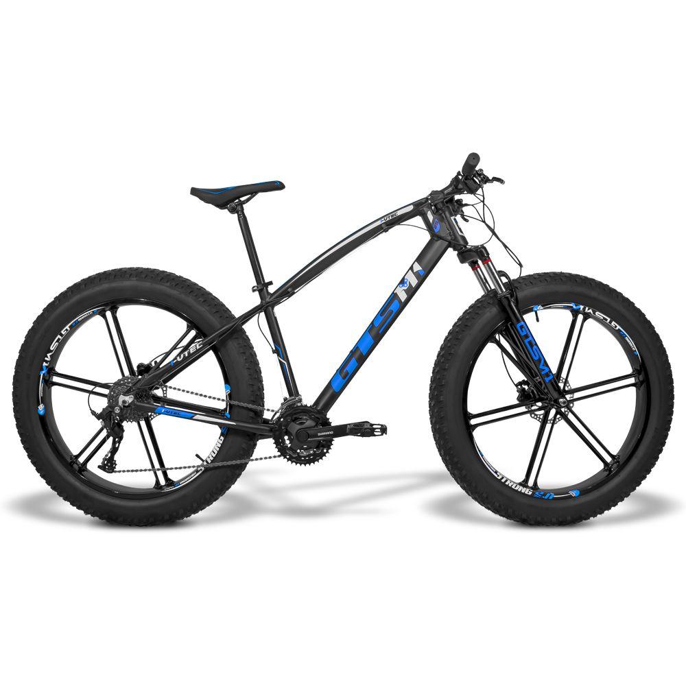 Bicicleta GTS  Fat Aro 26 com Freio a Disco Hidráulico 27 Marchas, Quadro de Alumínio e Roda de Magnésio | GTS M1 I-Vtec