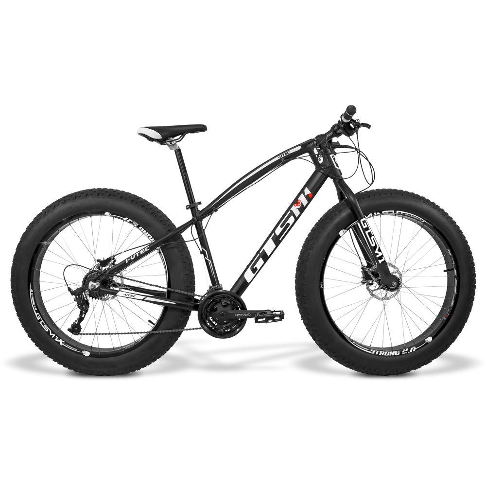 Bicicleta GTS Fat Tsi 7 Aro 26 com Freio a Disco Hidráulico 21 Marchas e Quadro de Alumínio | GTS M1 I-Vtec FAT