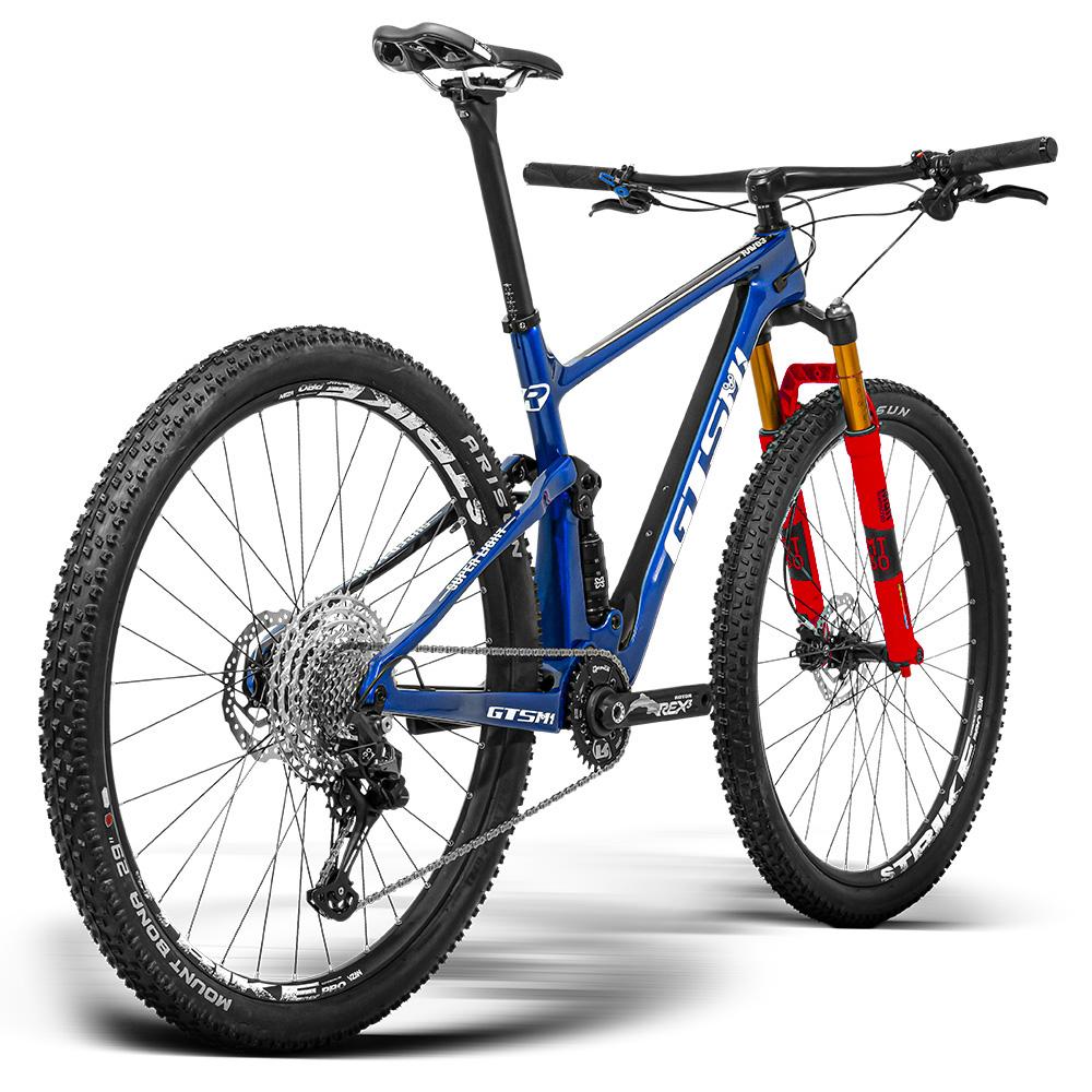 Bicicleta GTS RAV3-S aro 29 Freio Hidráulico Quadro Full Suspension Carbono e Travas no guidão   1x12 shimano Deore