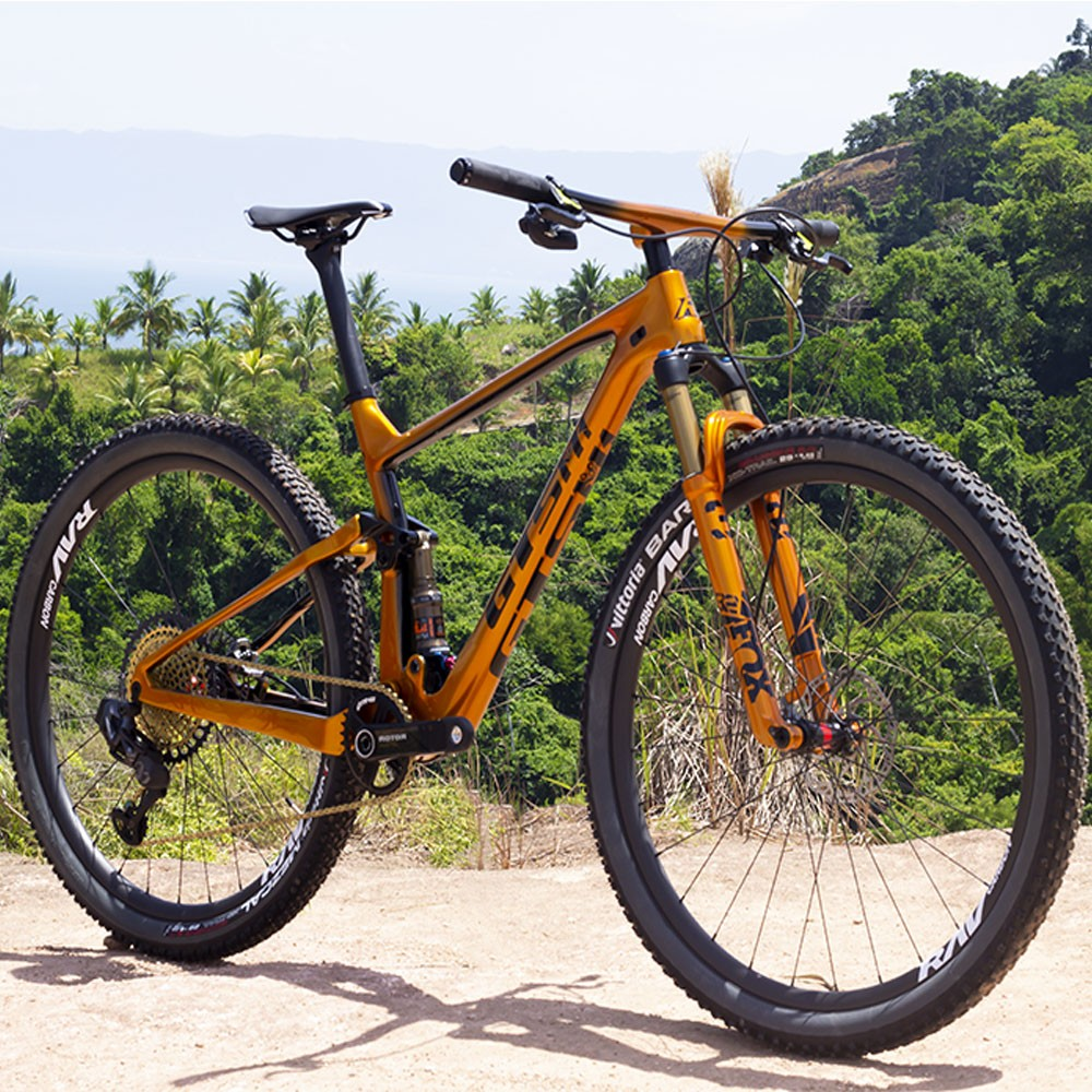 Bicicleta GTS RAV aro 29 Freio Hidráulico Quadro Full Suspension Carbono Gold | 1x12 Sram Wireless  XX1 AXS