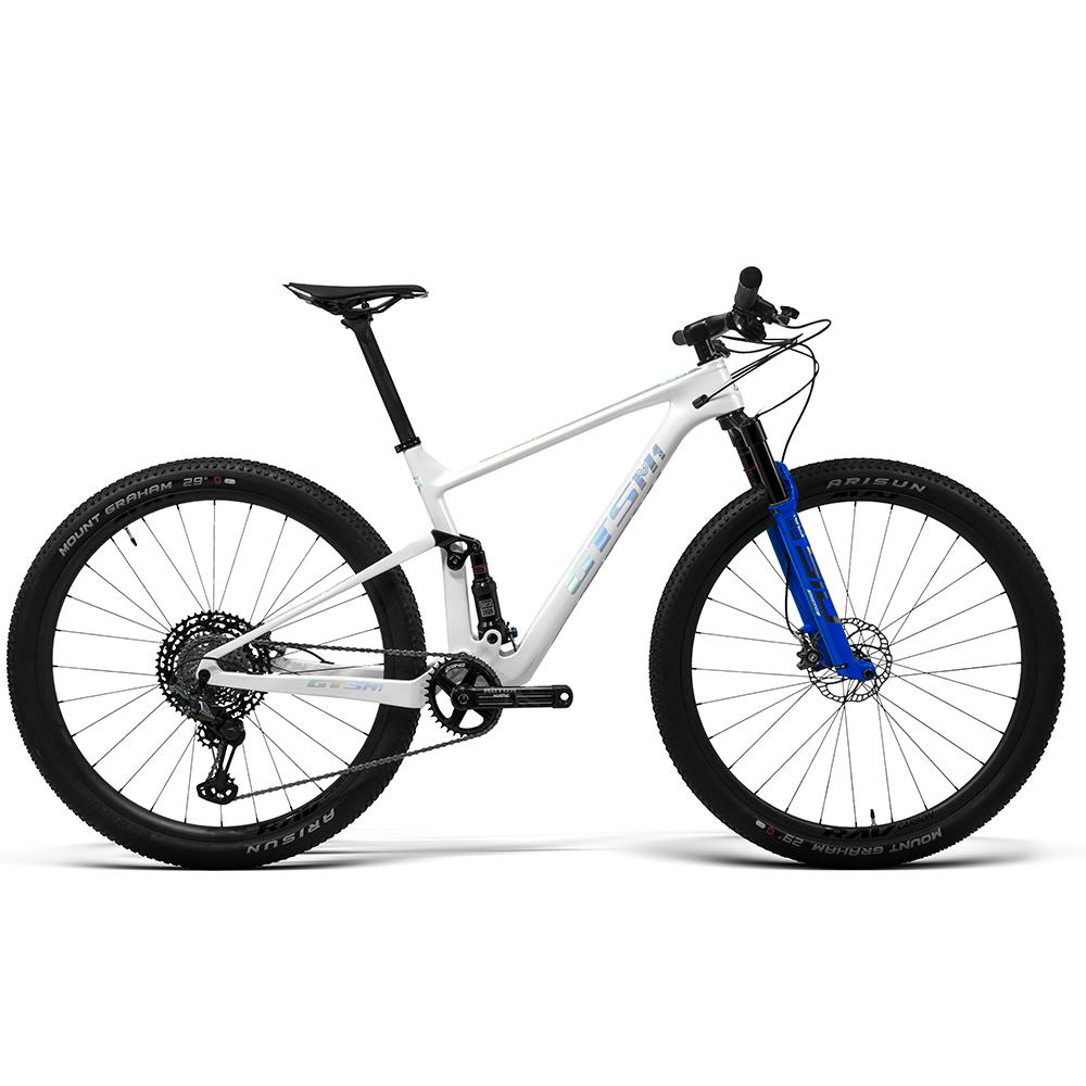 Bicicleta GTS RAV aro 29 Freio Hidráulico Quadro Full Suspension Carbono Red | 1x12 shimano XTR