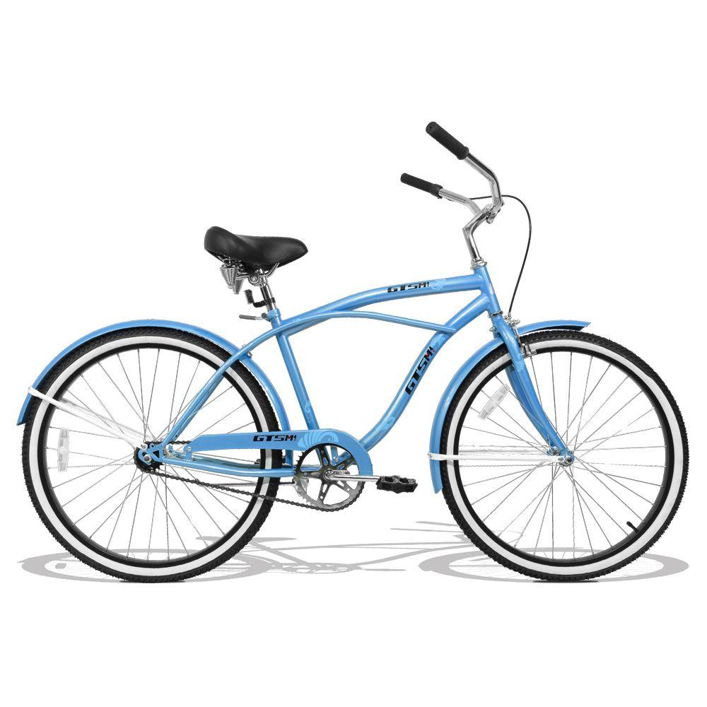Bicicleta GTS Retrô Low Beach Aro 26 com Para-lama | GTS M1 Retrô low Beach