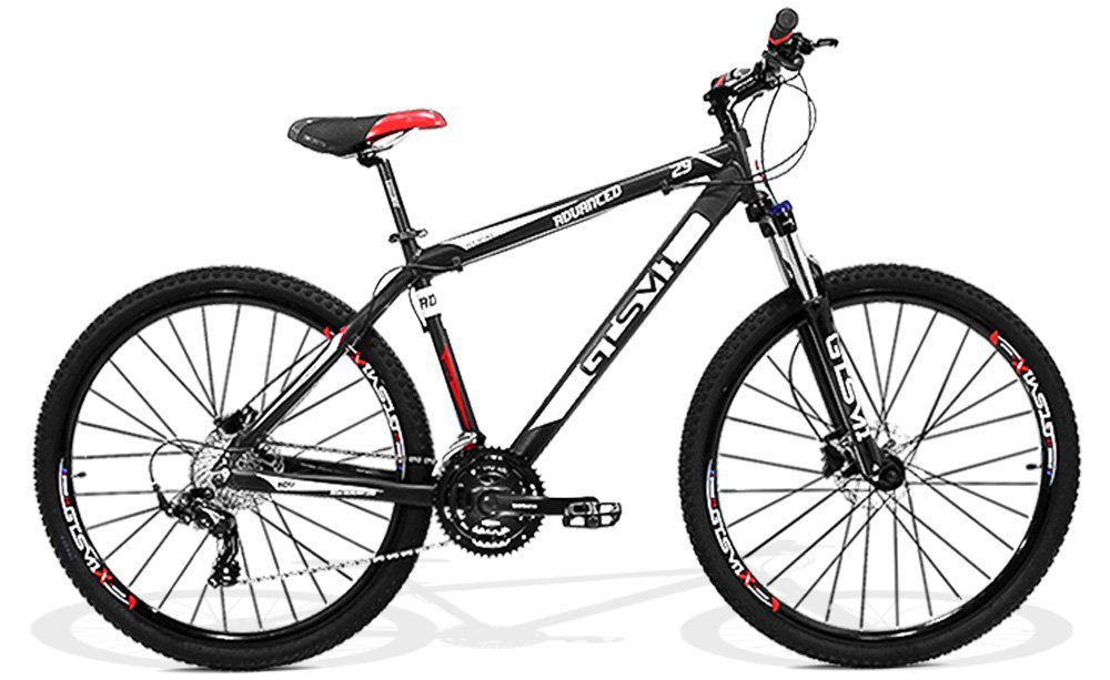 Bicicleta GTS Aro 29 Freio a Disco Hidráulico, Câmbio Shimano Tourney 24 Marchas e Amortecedor | GTS M1 Advanced New