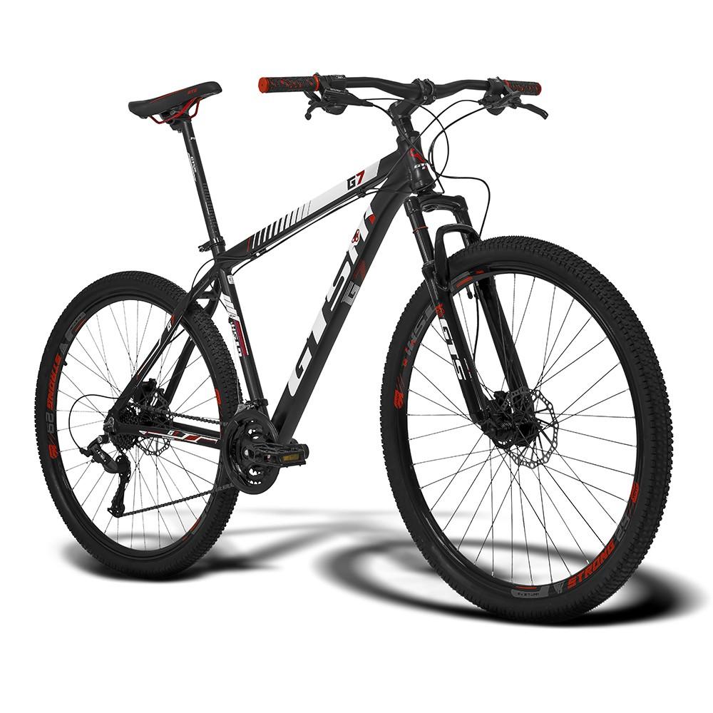 Bicicleta Gtsm1 Aro 29 Freio a Disco Hidráulico Câmbio GTSM1 mx8 24 Marchas e Suspensão   GTS M1 G7