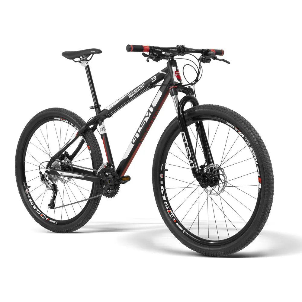 Bicicleta Gtsm1 Aro 29 Freio a Disco Hidráulico Câmbio Shimano Acera 27 Marchas e Suspensão com Trava   GTS M1 Advanced New