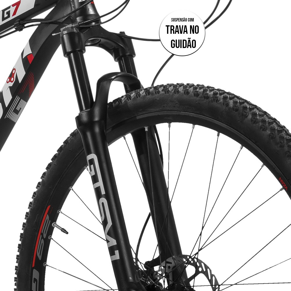Bicicleta Gtsm1 Aro 29 Freio a Disco Hidráulico Câmbio Shimano Deore 30 Marchas e Suspensão com Trava | GTS M1  G7