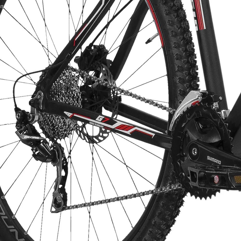 Bicicleta Gtsm1 Aro 29 Freio a Disco Hidráulico Câmbio Shimano Deore 30 Marchas e Suspensão com Trava   GTS M1  G7