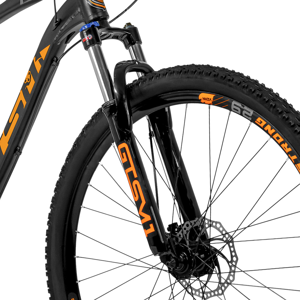 Bicicleta Gtsm1 aro 29 Freio Hidráulico kit Shimano completo 27 Marchas Suspensão com Trava | I-vtec SX Shimano  Altus