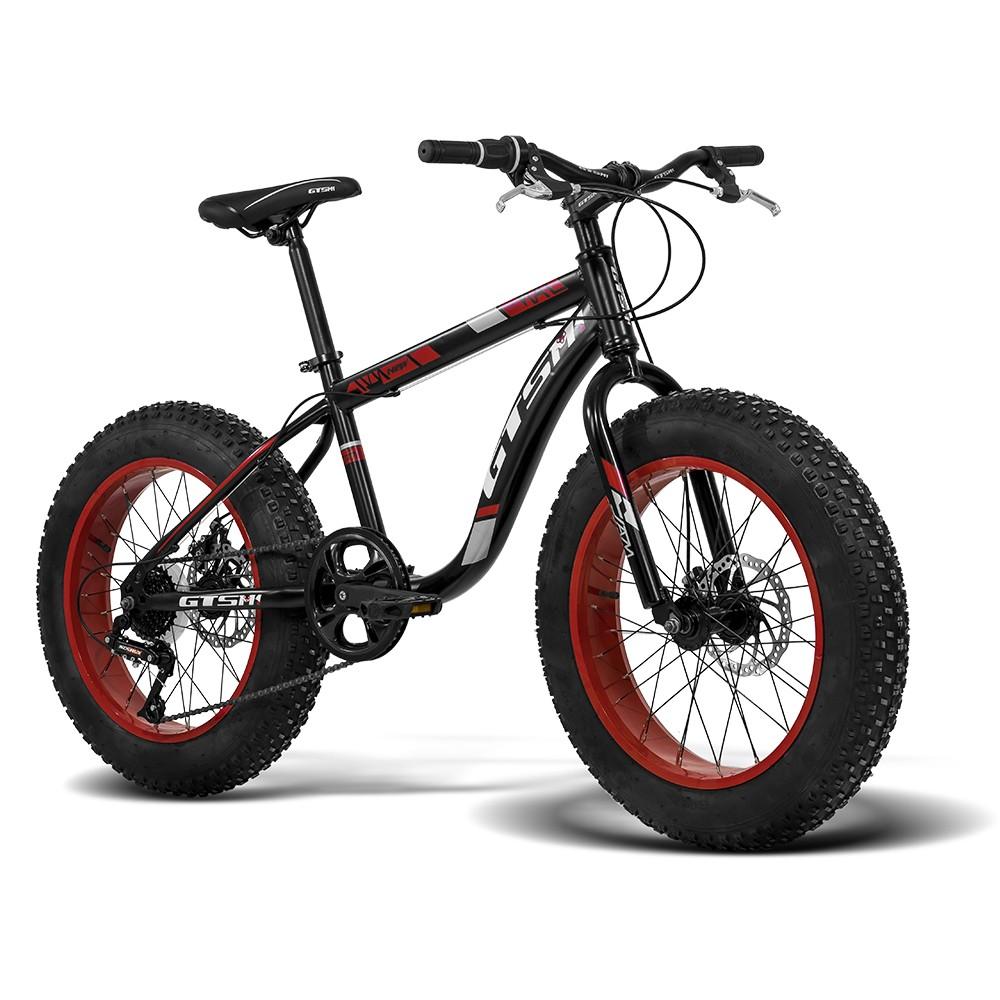 Bicicleta Gtsm1 Fat New aro 20 steel freio a disco 7 Marchas