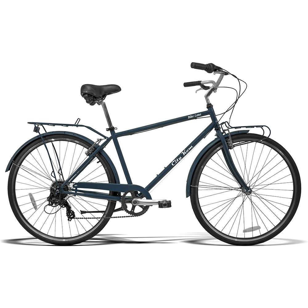 Bicicleta Retrô Lane Aro 700  Câmbio Shimano 7 Marchas Freio V-Brake | Retrô Lane City Kom