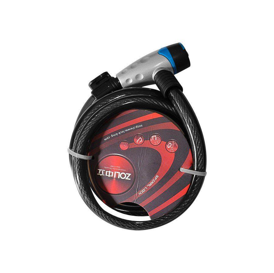 Cadeado Zoli Spiral Lock para Bicicleta 1.2m x 15mm com Chave