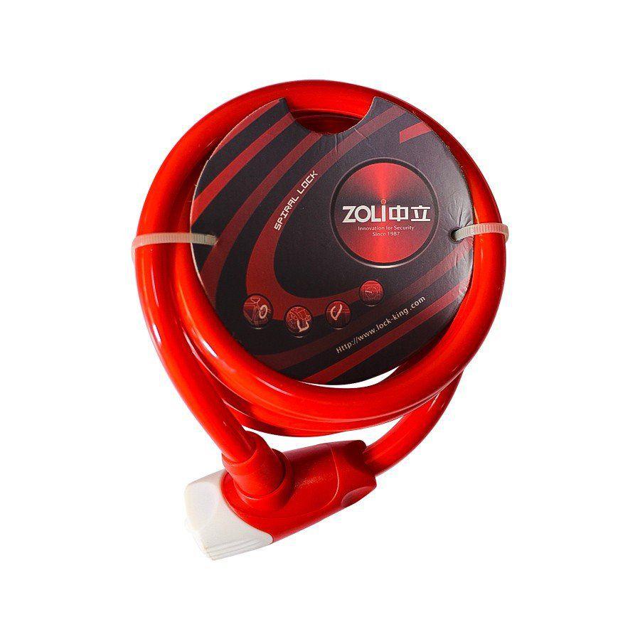 Cadeado Zoli Spiral Lock para Bicicleta 1.85m x 12mm com Chave