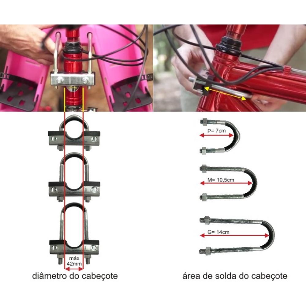Cadeirinha dianteira para Bicicleta Kalf Baby Bike Preta