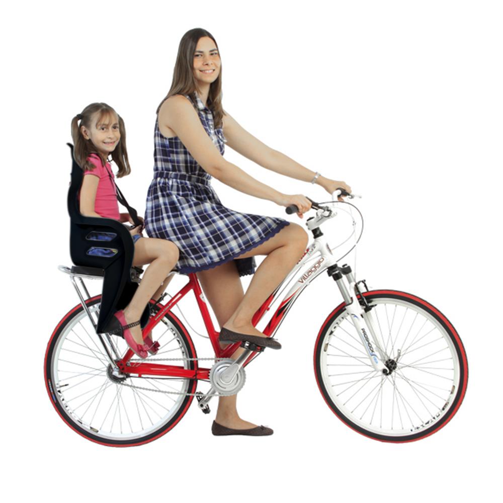 Cadeirinha traseiro para Bicicleta Kalf Fun Bike Preta