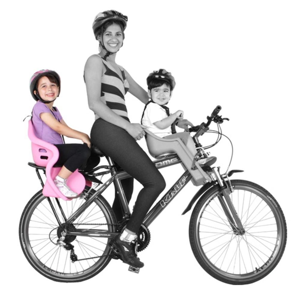 Cadeirinha traseira para Bicicleta Kalf Kid Bike Preta