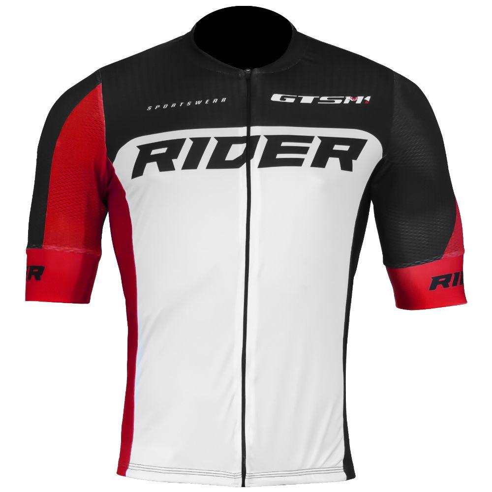 Camiseta Ciclista Gtsm1 Manga Curta com Proteção UVA e UVB Rider Premium