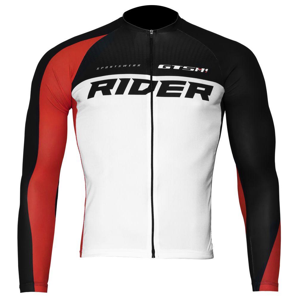 Camiseta Ciclista Manga Longa com Proteção UVA e UVB Premium