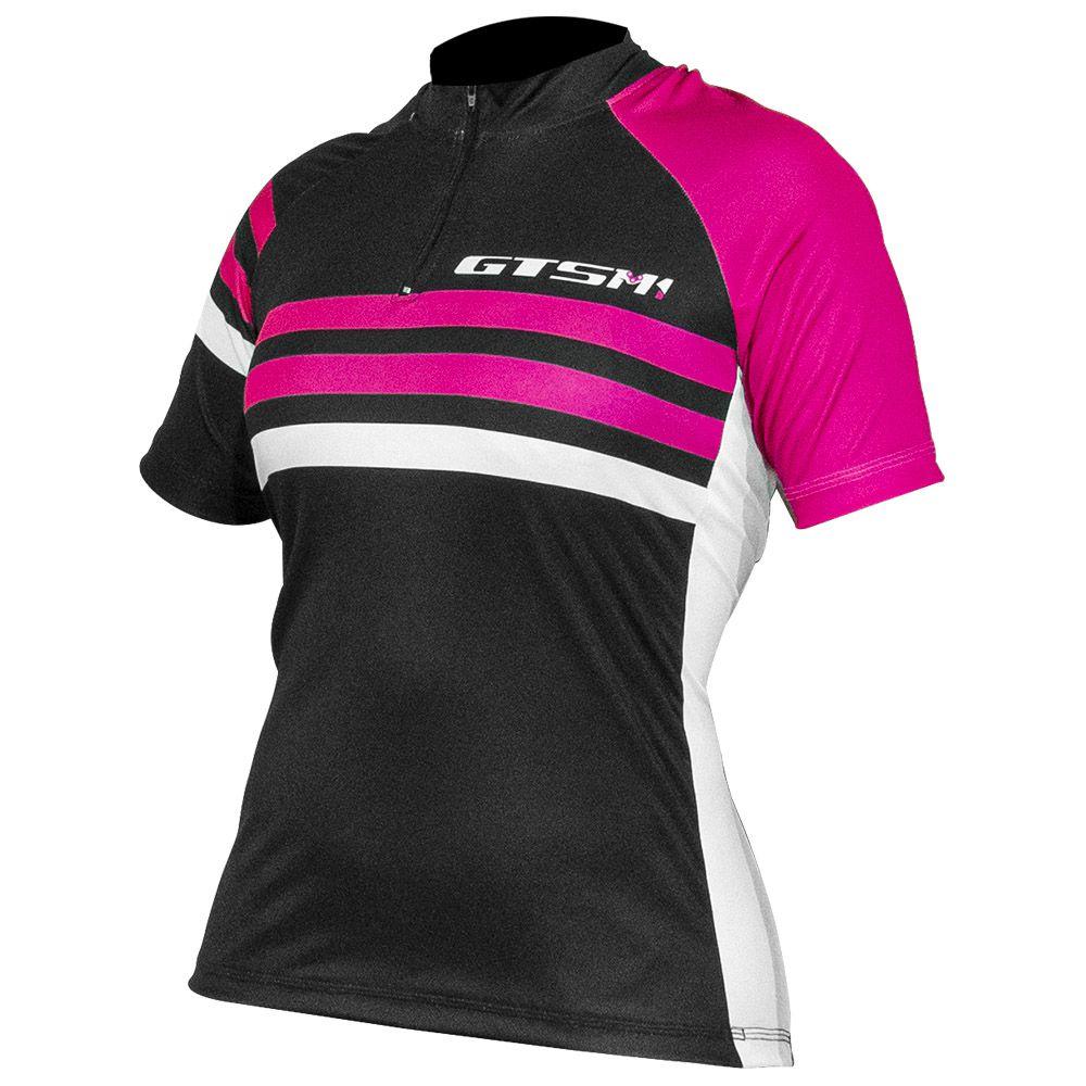 Camiseta Feminina Ciclista Gtsm1 Manga Curta com Proteção - UVA / UVB 50 FPS