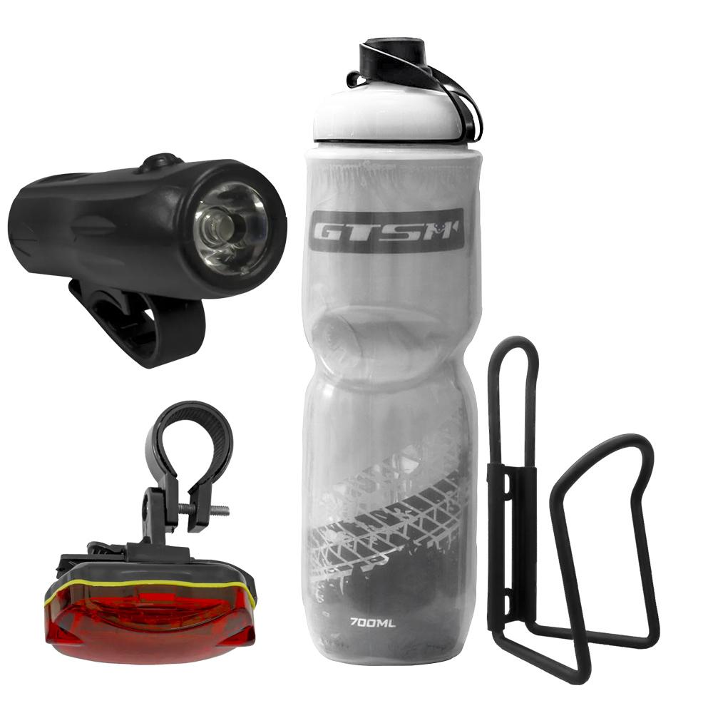 Kit Lanterna + Squeeze + Suporte de Squeeze