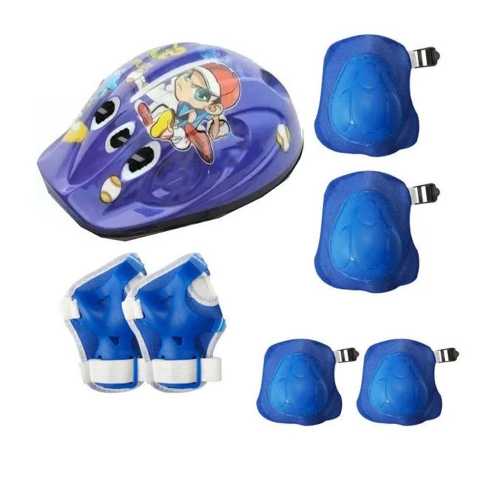 Kit Proteção Infantil Gtsm1 Capacete + Joalheira + Cotoveleira + Luvas
