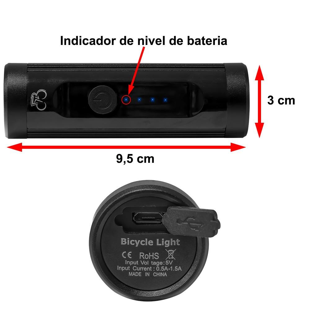 Lanterna Dianteira Led T6 Recarregável CL-200
