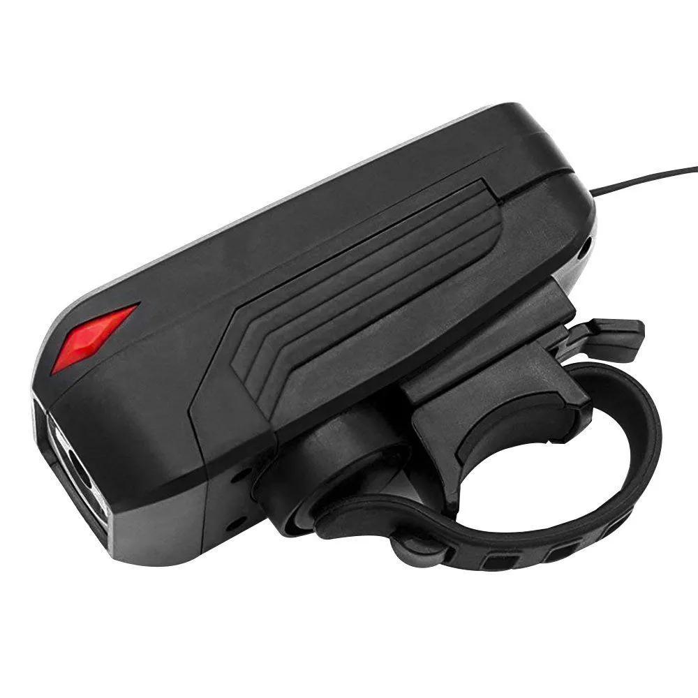 LANTERNA DIANTEIRA COM BUZINA SPEAKER BICYCLE LIGHT USB 7599