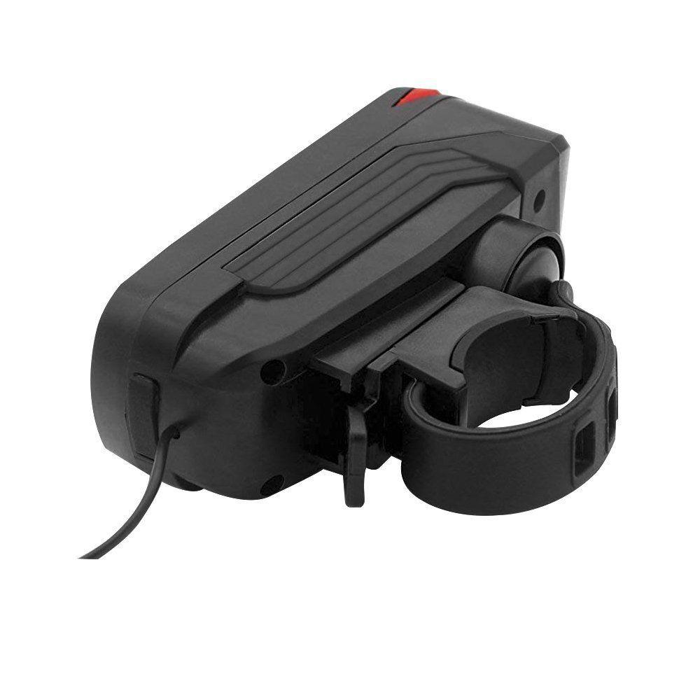 Lanterna Dianteira SPEAKER USB a Prova d' Água 7599