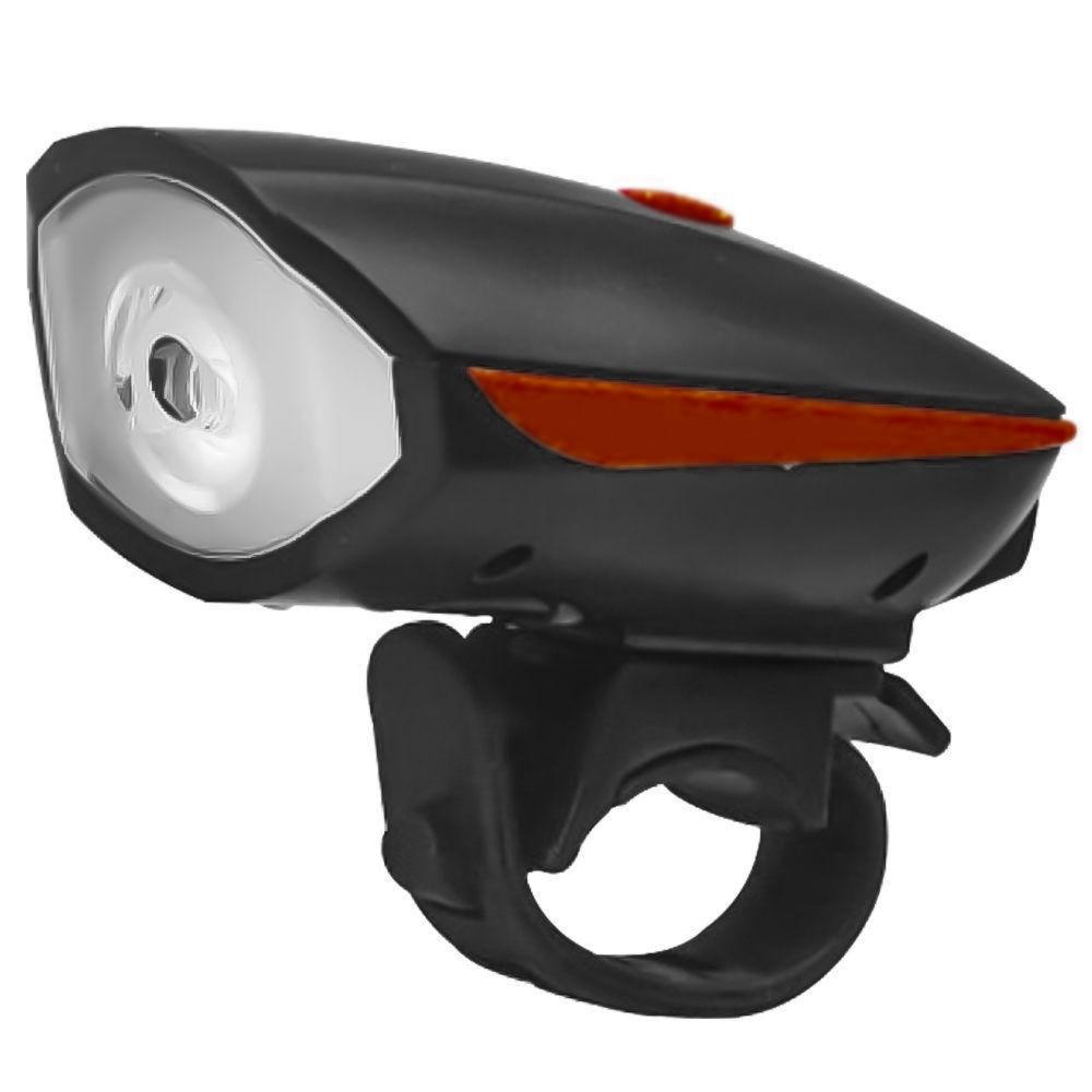 Lanterna Dianteira Speaker USB Recarregável 7588 com buzina