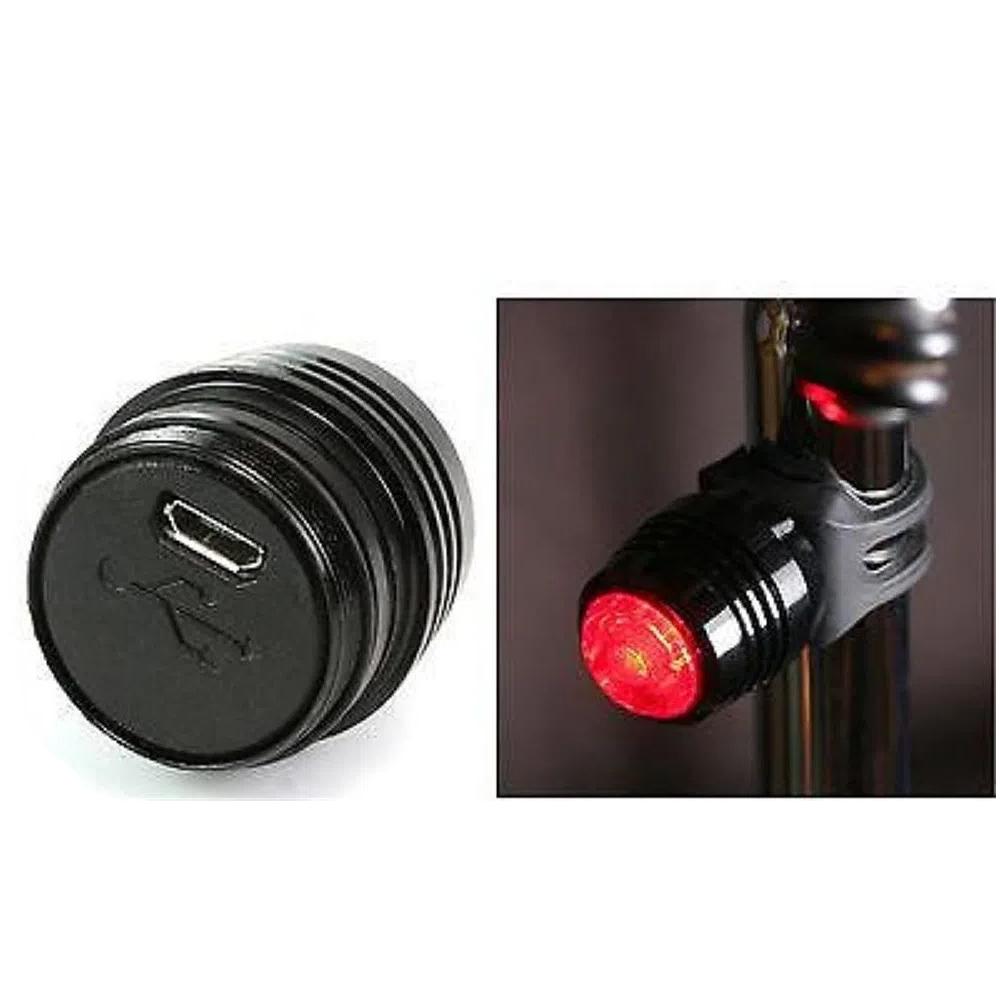 Lanterna Led  Abraçadeira Vermelho com carregamento USB CL-8049