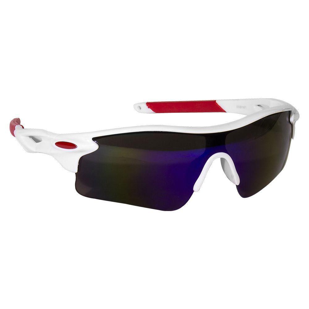 Óculos Branco com Lentes Multicolor