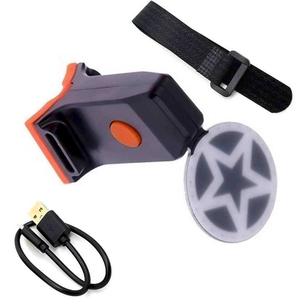 Sinalizador traseiro Led Biccyle Tail Lamp LL2211 Estrela