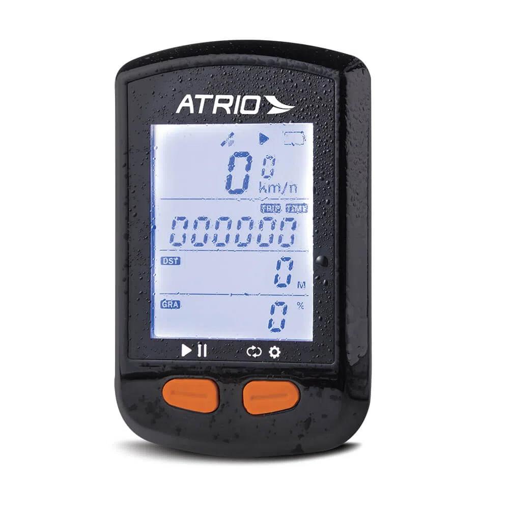Velocímetro Atrio GPS Bike Steel Sensor Cadencia 22 horas IPX6