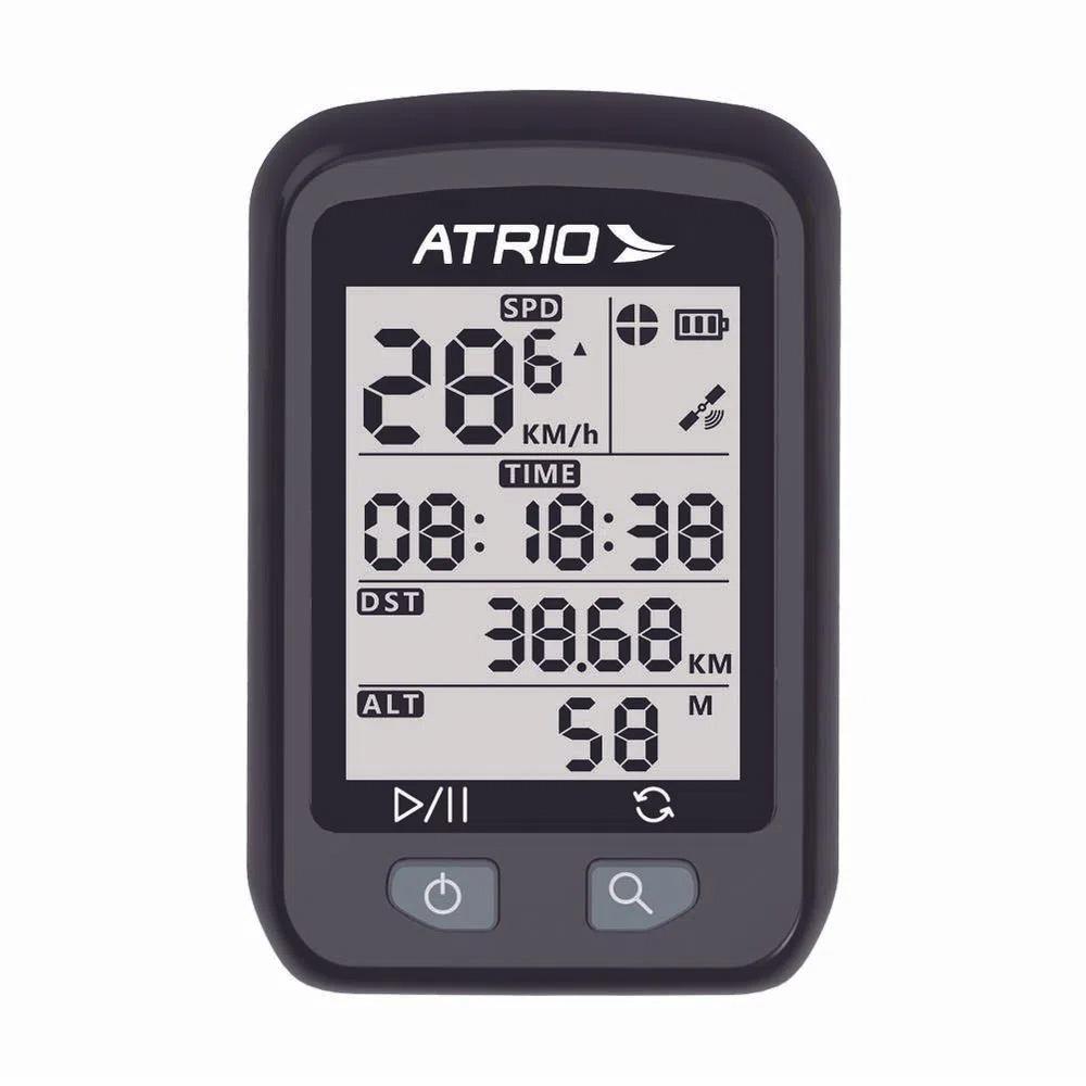 Velocímetro Atrio GPS Iron 22 Horas IPX6 Tela de 1,9 polegadas