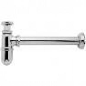 Sifão Metal para Tanque 30cm 1680 1.1/4x1.1/2 Cromado Kimetais