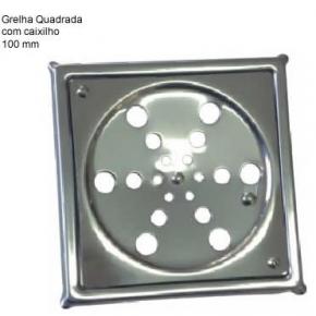 Grelha Inox Rotativa Quadrada 10x10 com Caixilho Aminox