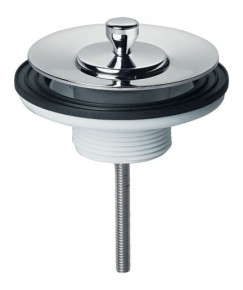 Válvula de Saída d´Água Universal para Lavatório c/ Tampa de Metal Luxo Cromado Docol