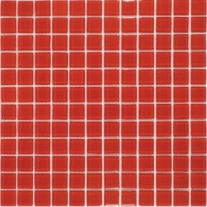 Pastilha de Vidro 2,3x2,3 Cristal HK60 Vermelha Placa de 30x30 Colormix